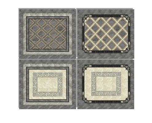 新中式瓷砖拼花组合