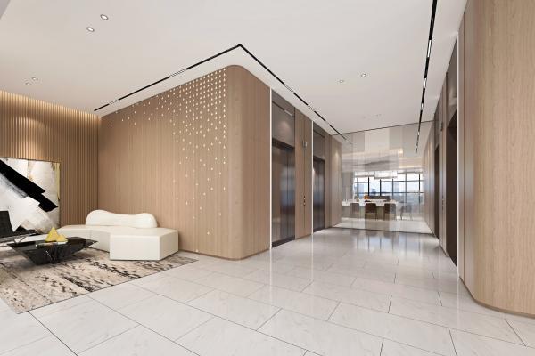 现代电梯厅 电梯间