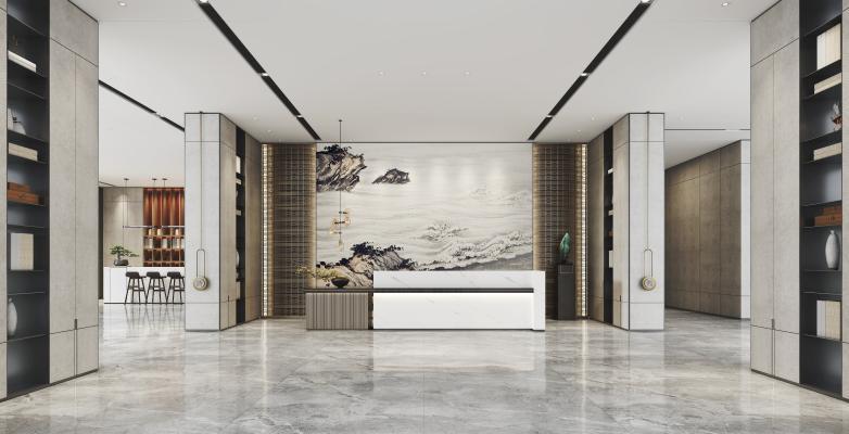 新中式售楼处前厅