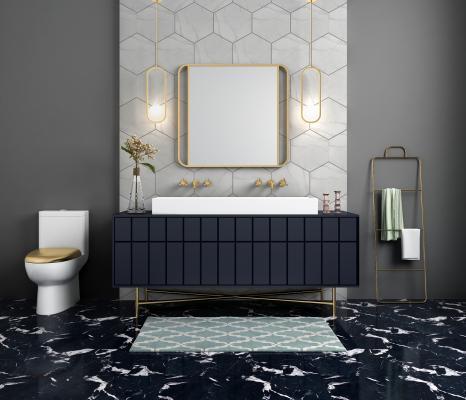 现代奢华卫浴柜架 洗手间 台盆柜