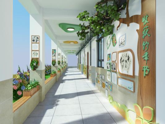 现代学校生态长廊