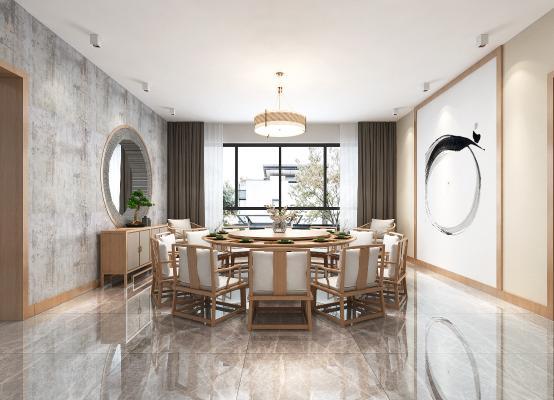日式民宿餐厅 茶室 吊灯