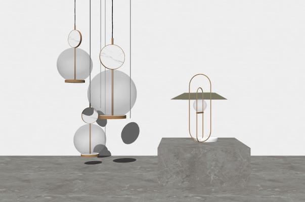 现代吊灯 灯具组件