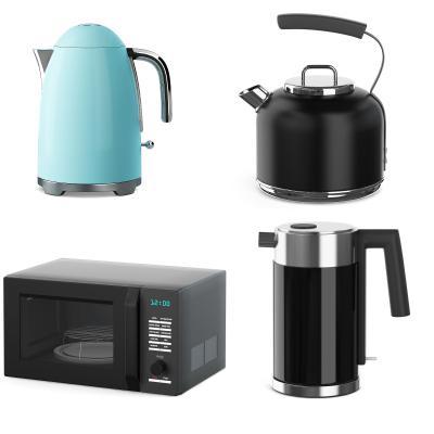 现代水壶 烧水壶 微波炉