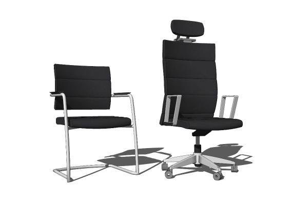 现代办公椅 职员椅 工字椅 转椅
