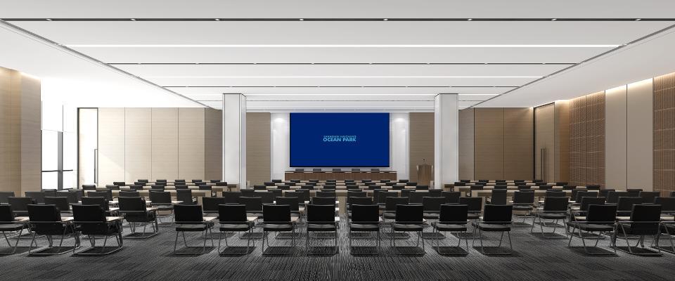 现代大会议室 培训室 多功能厅 办公椅