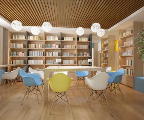 现代图书馆 阅览室