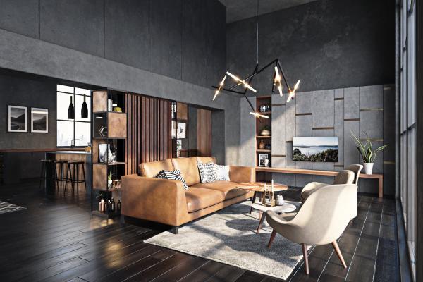 现代公寓客餐厅