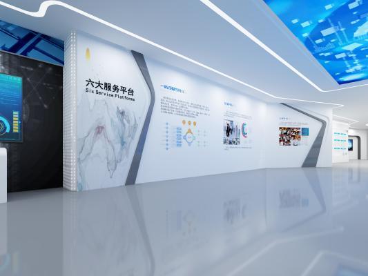 现代科技展厅 展柜 电子显示屏