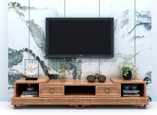 新中式古實木電視柜