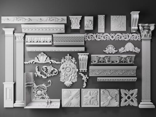 欧式角线 雕花 雕刻罗马柱 柱头雕刻