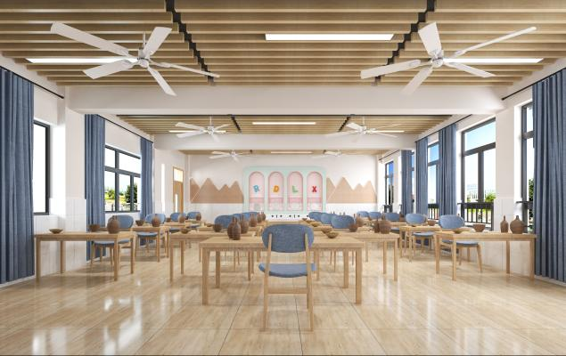 现代风格学校 教室 陶艺室
