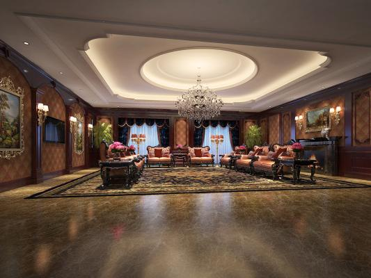 欧式酒店接待室