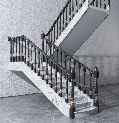 简欧描金栏杆 楼梯