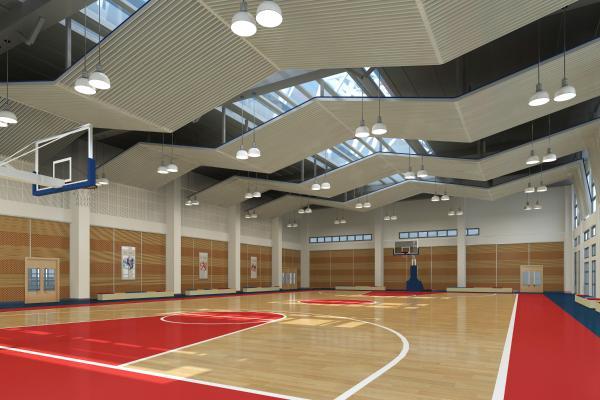 现代室内篮球场