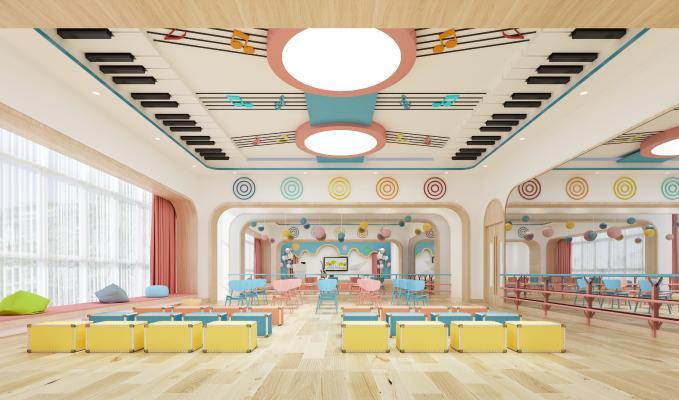 现代风格幼儿园 音乐室 音体室