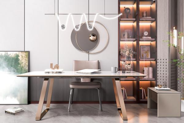 现代轻奢书桌椅 电脑桌 办工桌