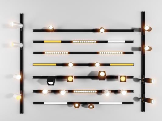现代线条磁吸灯
