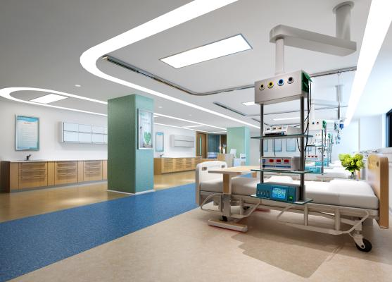 现代医院 ICU 过道