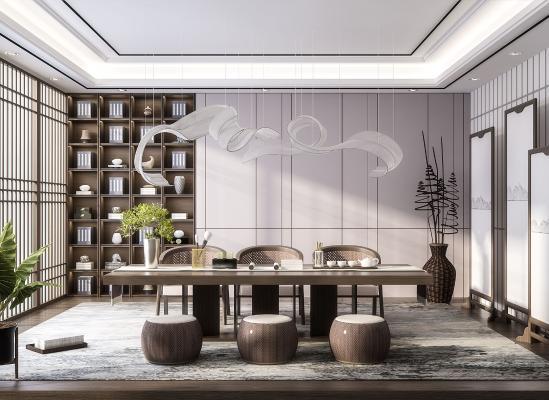 新中式茶室 茶几 茶台