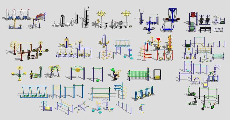 现代户外健身器材 运动器材组合