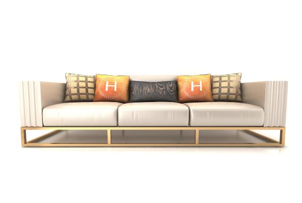 现代风格三人沙发