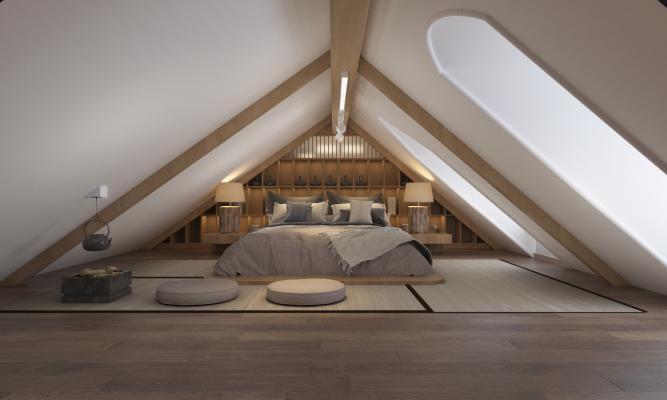 日式阁楼榻榻米卧室