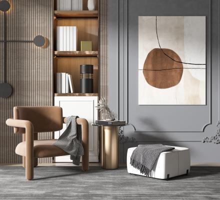 现代风格休闲单椅
