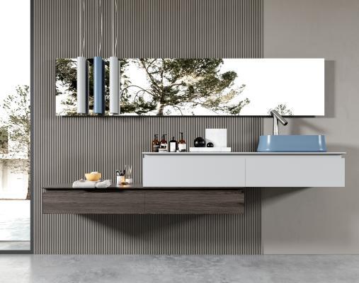 现代卫浴柜架