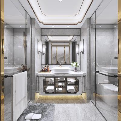 新中式卫生间浴室壁灯淋浴房洁具马桶