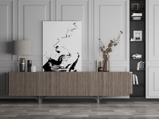 现代装饰边柜