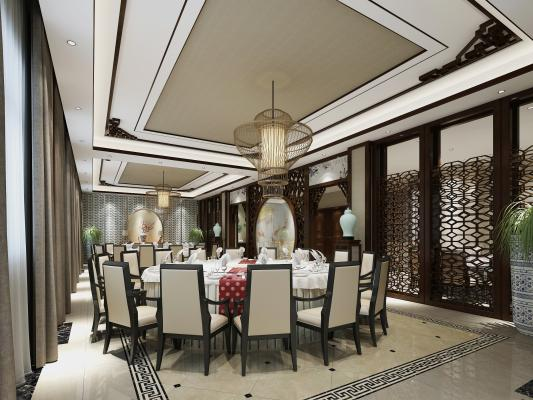 新中式风格包间 餐厅