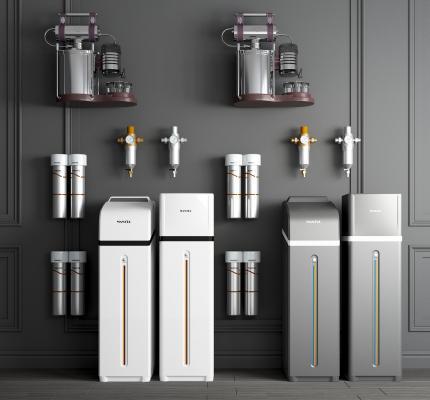 现代净水器 饮水机 滤水器 净水器管线机