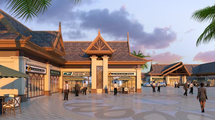 东南亚风格商业街