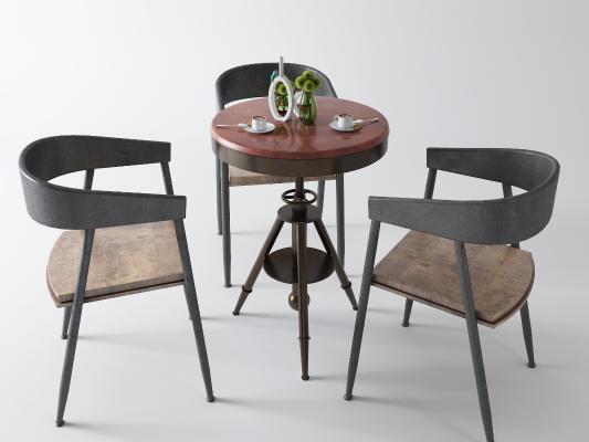 工业风休闲桌椅 咖啡桌
