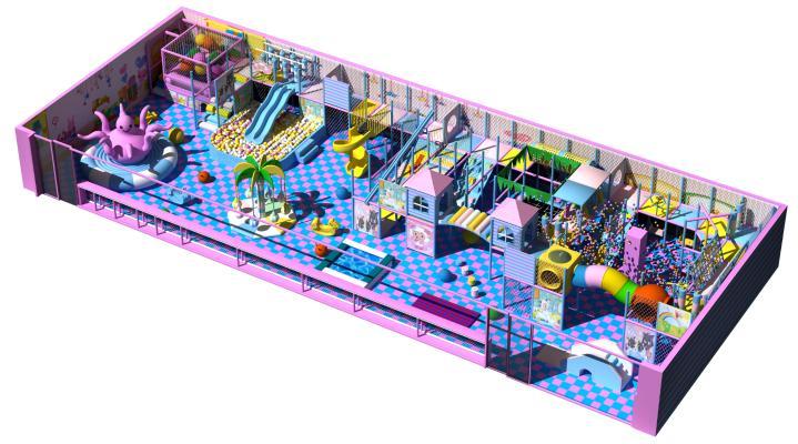 现代儿童游乐园 室内游乐场