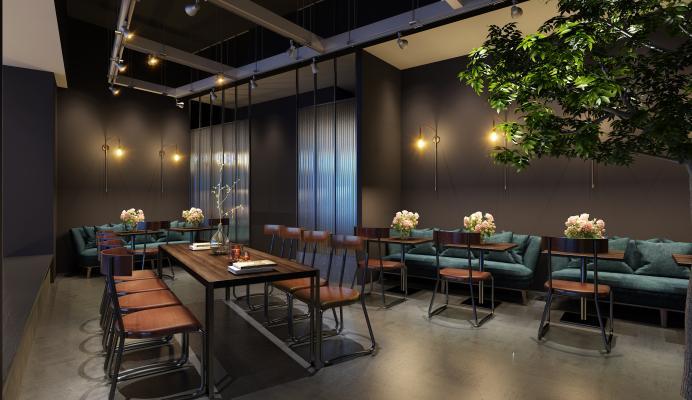 工业风主题餐厅 咖啡厅