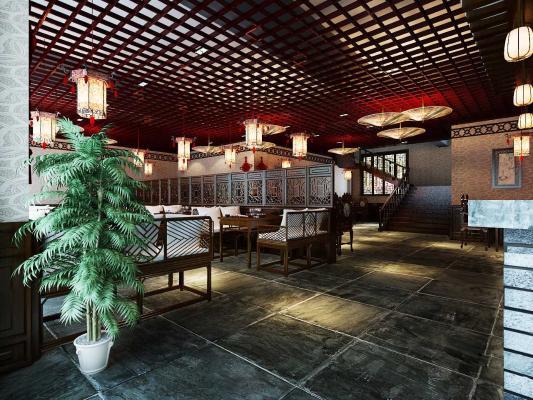 中式风格火锅店