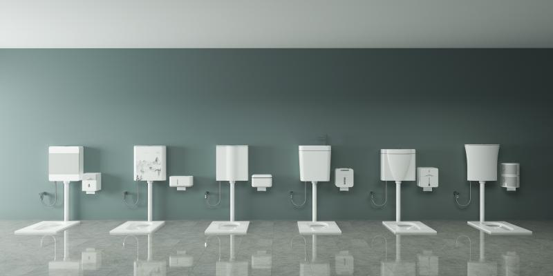 现代简约卫生间水箱 蹲便器 纸巾盒组合