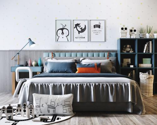 北欧风格儿童床