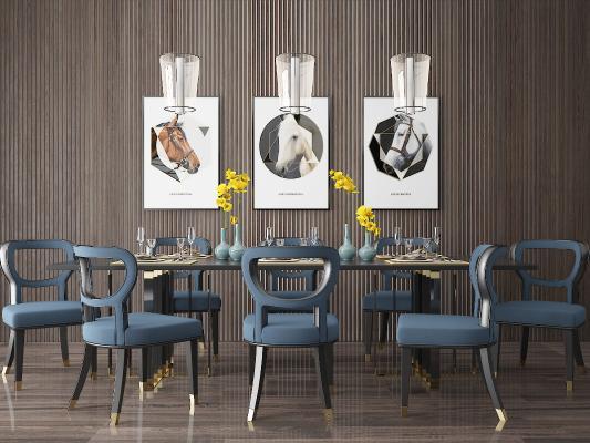 现代餐桌 餐椅 餐桌椅