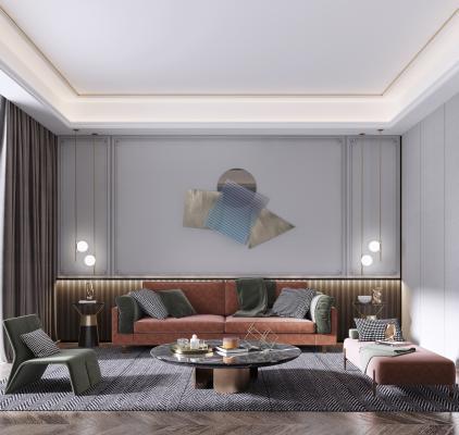 现代客厅 沙发