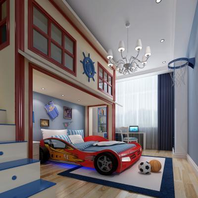 地中海儿童房 男孩房 儿童床