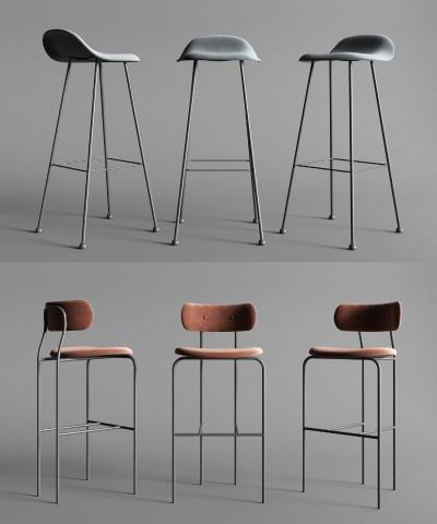 丹麦 GUBI 现代吧椅组合