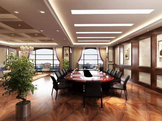 美式風格會議室 會議桌