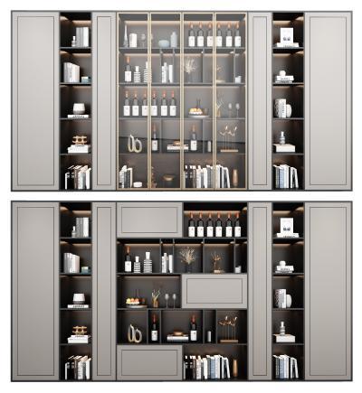现代轻奢酒柜 装饰柜组合