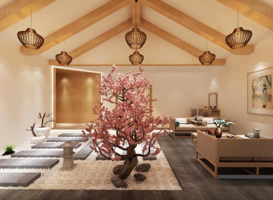 日式美容院大厅