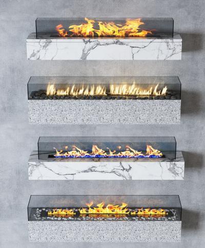 现代壁炉装饰组合