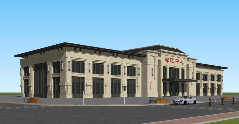 新中式汽車客運站 火車站 客運中心