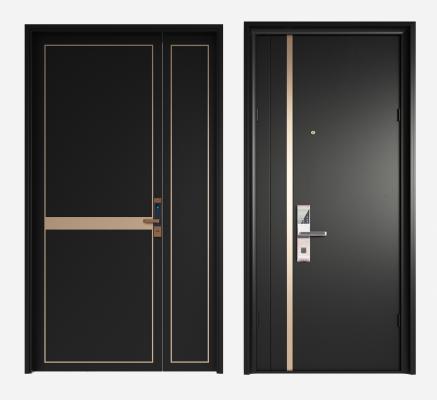 现代防盗门 入户门 指纹门